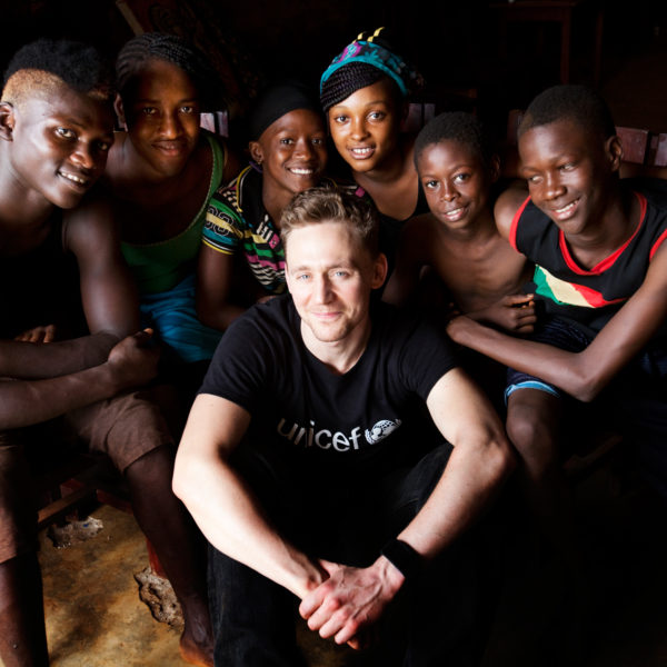 Tom Hiddleston Guinea field diary. Unicef/2013/Borden