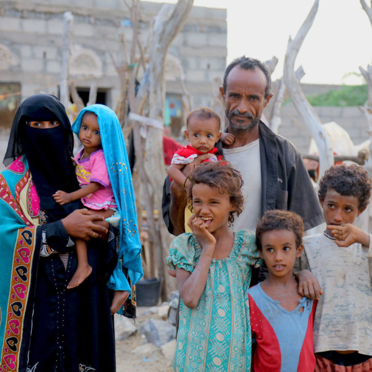 Saba and her family in Yemen