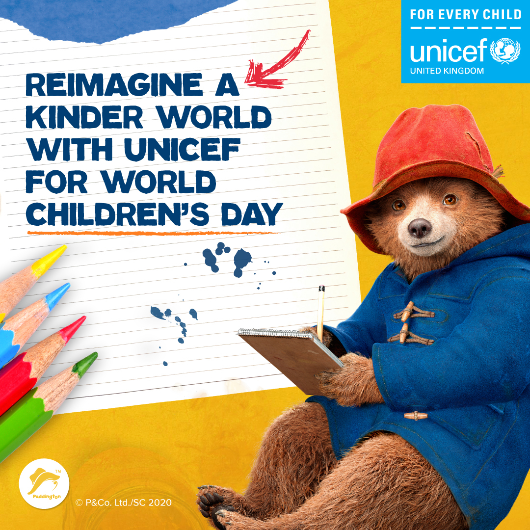 World Children's Day 2020 - Reimagine a Kinder World with Paddintgon and Unicef