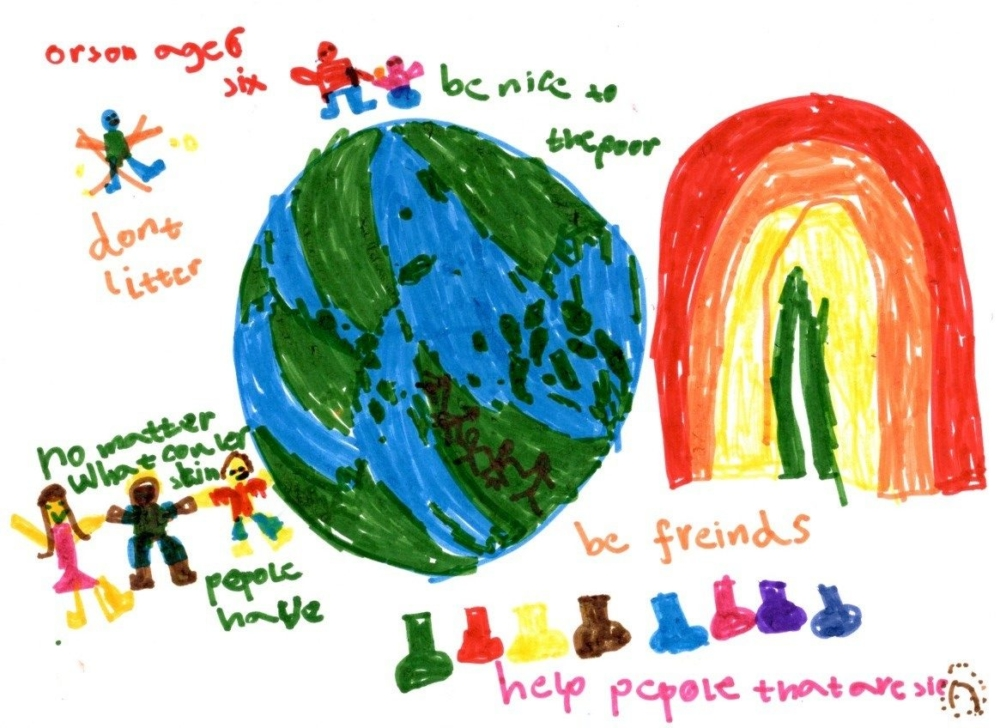 Reimagine a Kinder World by Orson, age 6